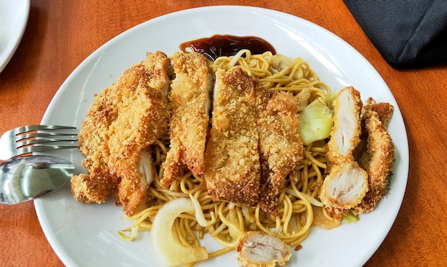 Chicken Cutlet Yakisoba