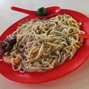 Fried Baby Squid Prawn Mee