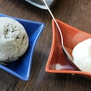 Black Sesame Ice Cream & Yuzu Sorbet