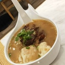 Kagoshima-Style Braised Pork Cartilage & Wantons In Fish Soup With Mixian