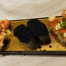 Lobster Salad Maki, Black Tobiko Gunkan, Yellow Submarine