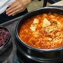 Kimchi Soup With Red Bean Rice