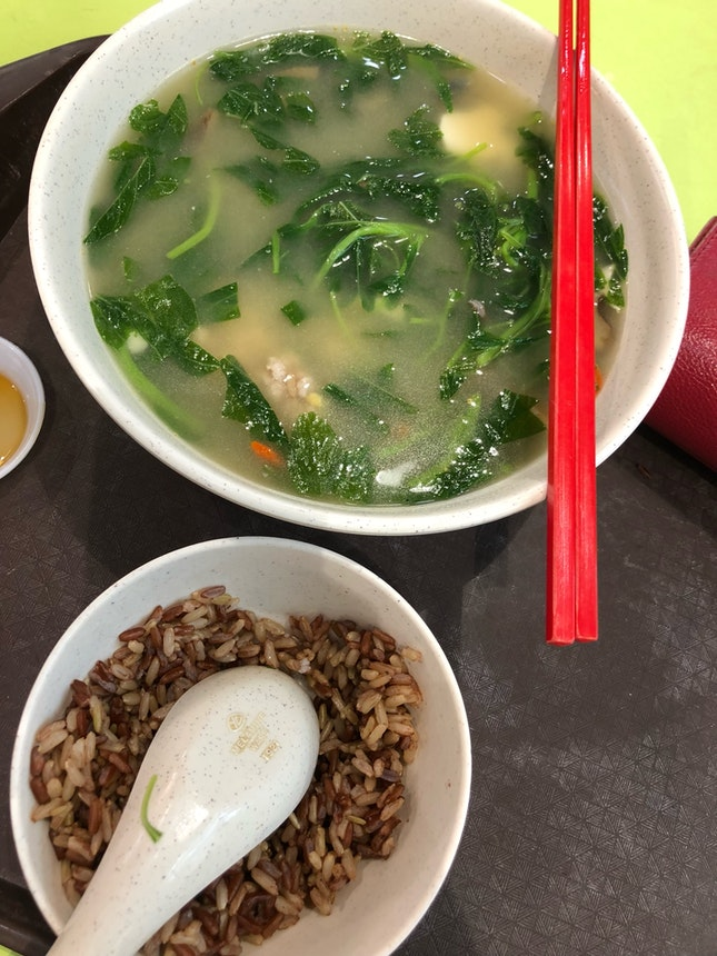 Homecook Hawker Spinach Soup
