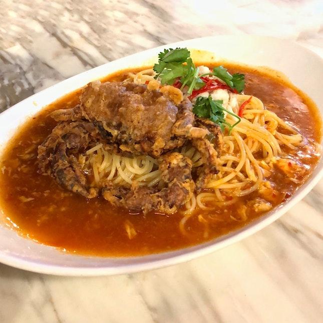 Chilli Crab Spaghetti 🦀