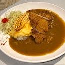 Omelette pork katsu curry rice 🍛