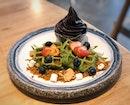Matcha Berry Homemade Mochi Waffles