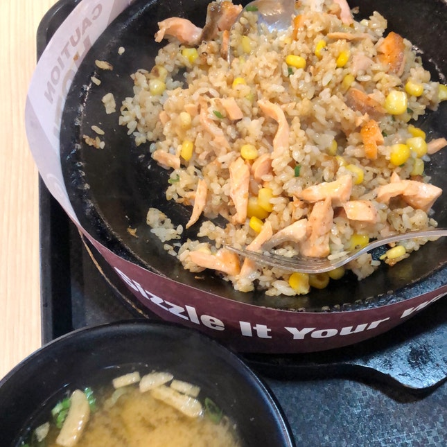 Salmon pepper lunch
