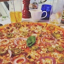 Enormous date night pizza at @pizzaexpresssg the best pizza in Singapore!