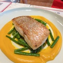Snapper With Pumpkin Purée And Long Beans