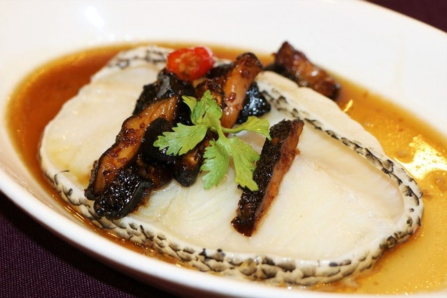 Steamed Cod Fillet with Minced Black Garlic and Chili Soya Sauce