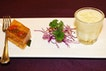First Culinary Dessert Duo - Chilled Sweetened Cream of Young Coconut, Chilled Sweetened Osmanthus Jelly