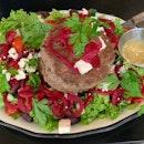 Greek Lamb Burger Salad
