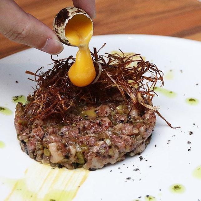 A4 Wagyu Beef Tartare from @BorutoSingapore!