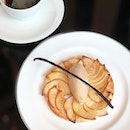 Thinking of this Apple Tart with Caramel Ice Cream by Guest Chef Nicolas Reynard at La Brasserie this month.