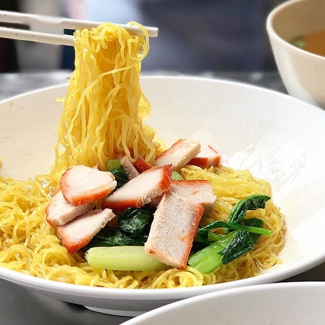 Can always count on Wanton Mee to warm the stomach first thing in the day, good morning!