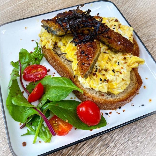 Unagi, Egg & Toast