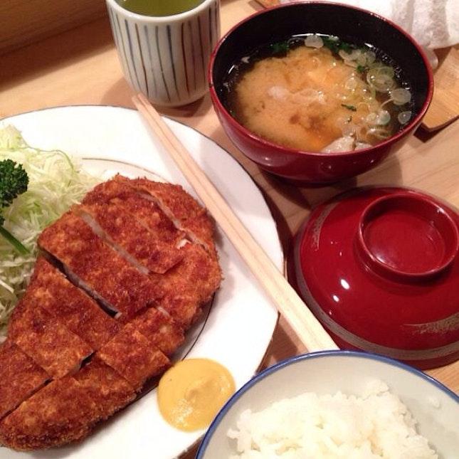 Yummiest tonkatsu I've ever tried in Japan!!