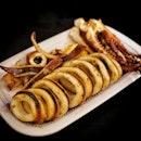 Whole Squid fr Tenpayaki Menu from @seiwaa_okonomiyaki_teppanyaki.