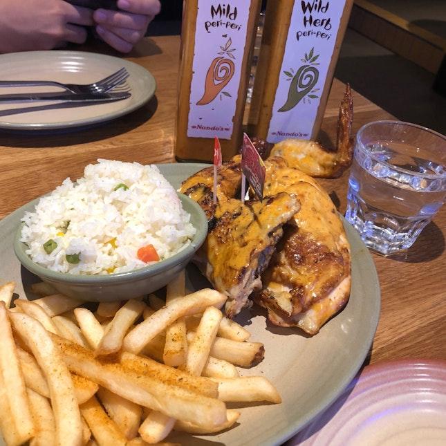 1/2 Chicken at Nandos ($22.90)
