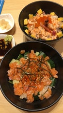 Truffle Salmon Don//Salmon Mentaiko Bara Chirashi