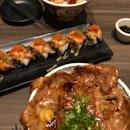 Tokachi-Style Pork Rice ($12.90++), Watami Oishi Maki ($15.90++)