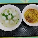 Fishball Noodles With Mee Kia
