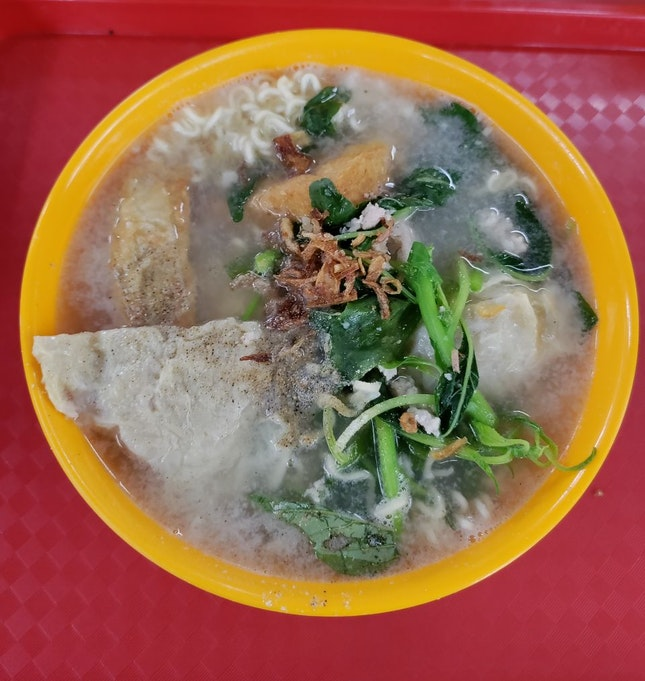 Yong Tau Foo In Spinach Soup
