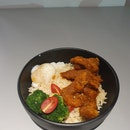 Traditional Asam Fish Rice Bowl
