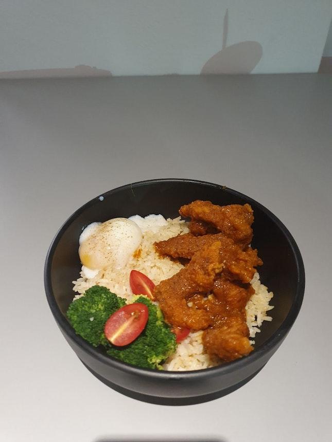 Traditional Asam Fish Rice Bowl