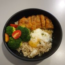 Salted Egg Fried Chicken Rice Bowl