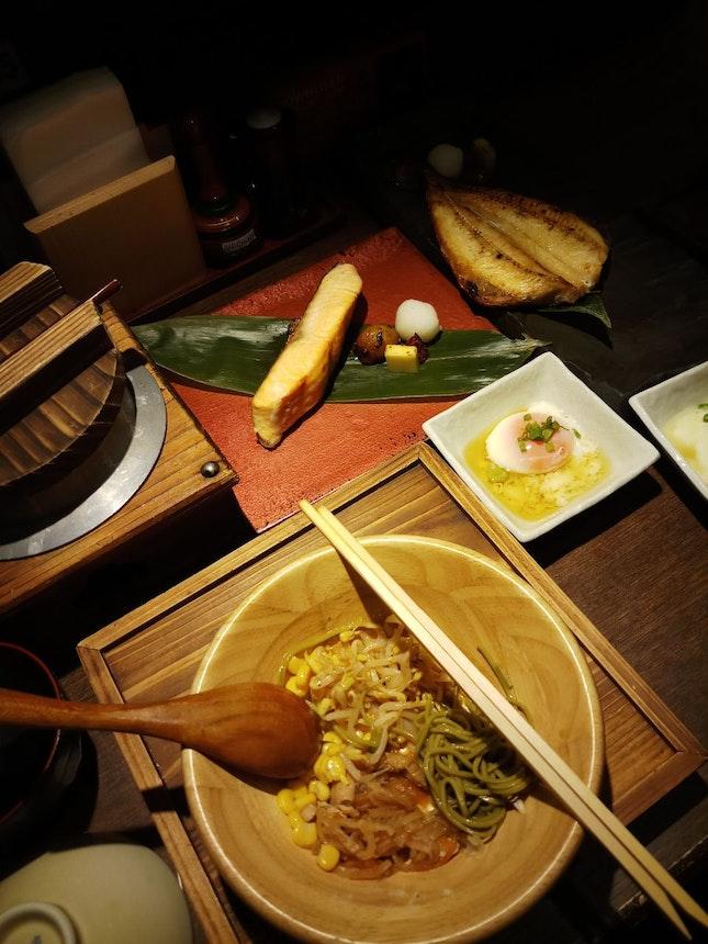 Teriyaki Salmon ($18.80++) & Dried Atka Mackerel Set ($14.90++)