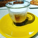 Bread & Hearth having Cappuccino ,Saucci Friand ,Croque Monsieur .