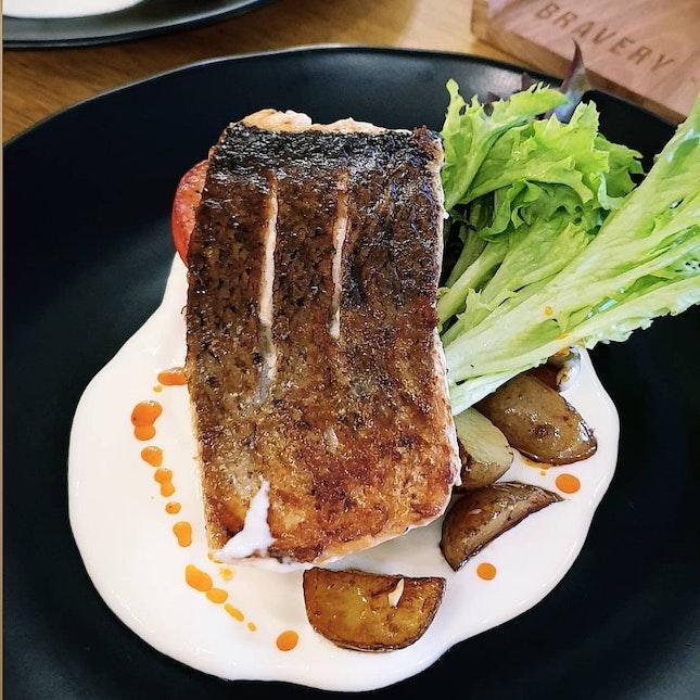 Salmon Fillet + Lavender Latte