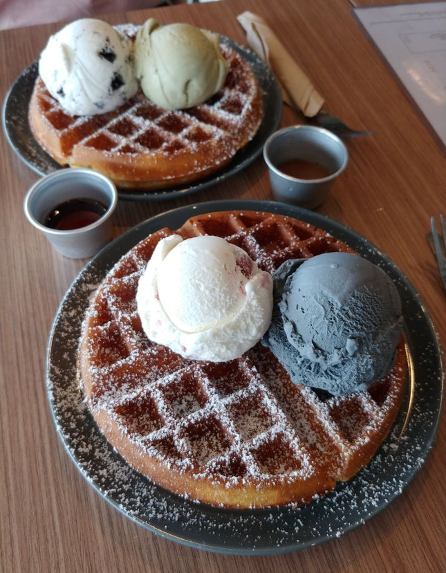 1 For 1 Double Scoop Waffles