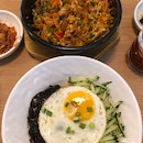 bibimbap and jajangmyeon ($9.9++ each for lunch promotion)