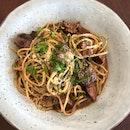 Beef Ragu Spaghetti $23+