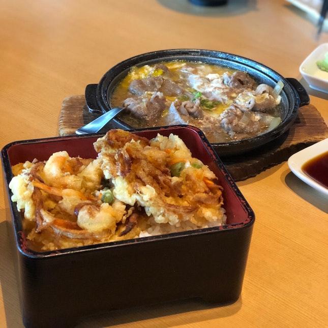 Fried Ebi & Yasai Don & Beef with Egg