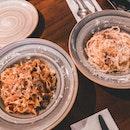 Beef short rib pasta $29++, Truffle carbonara $24++