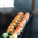 Rockstar Roll $9.45++, All Salmon All The Time $8.45++