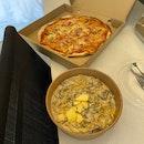 Truffle Mushroom Linguine $18.8+, Amatriciana Pizza $20.8+
