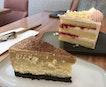 Yuzu Strawberry Cake ($9.90) & Cheesecake ($9.90)