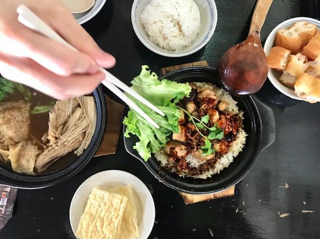 Traditional Herbal BKT ($6.90) + Claypot Rice ($7.90)