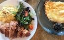 Gashouse Eggs ($13) & Eggs With Croissant ($11)