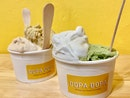 Hazelnut, Pistachio, Coconut Pandan, Matcha Ice-cream