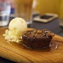 Sticky Date Pudding • A baked medjool date sponge cake with vanilla ice cream, drizzled with date & vanilla butter caramel