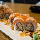 Flamed Salmon Sashimi Maki
