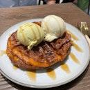 Double Scoop Ice Cream With Waffles ($16)