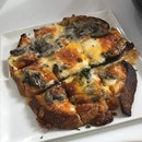 Toast With Mushroom And Cheese