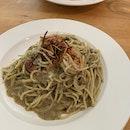 Laksa Prawn Pesto Pasta ($23)