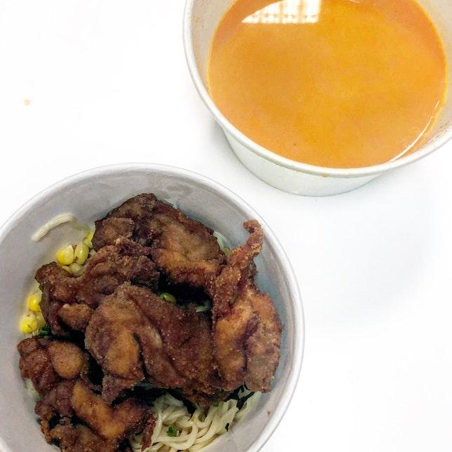 Ramen With Fried Chicken